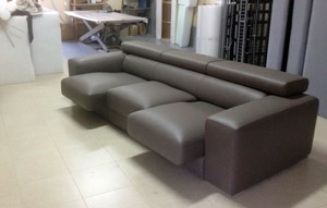 Sofa of Leather Brown