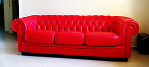 Leather Sofa Chesterfield 4 Seater