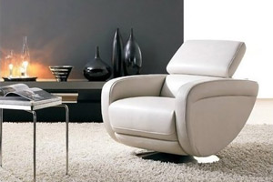 Leather Armchair Michela