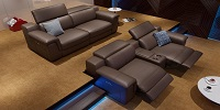 Leather Sofa Suite Big Relax