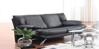 3 Seater Brooklyn of Black Leather