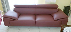 Leather Sofa 3 Seater in Pink Design Family