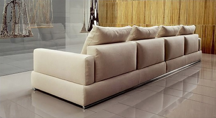3 Meters Leather Sofa Hilda: Backsight