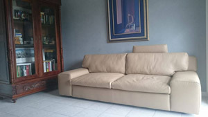 Leather sofa 3 seater Home