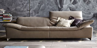 Sofa 3 seater of grey leather