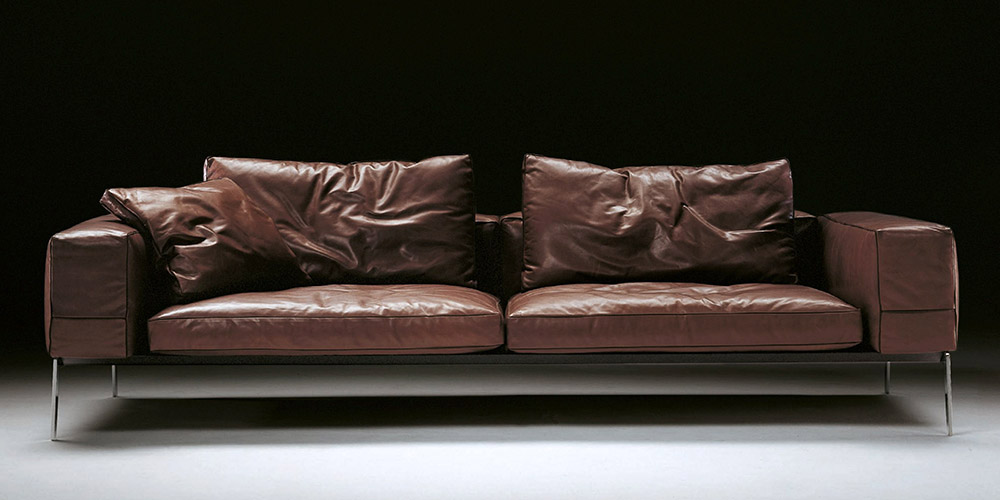 Italian Leather Sofa Houston by Calia Maddalena