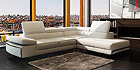 King Standard Corner Suite in White Leather