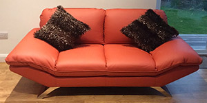 2 Seater Sofa of Red Leather Lolita