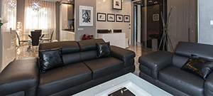 Leather Suite Mobydick: 3 Seater Sofa and Armchair