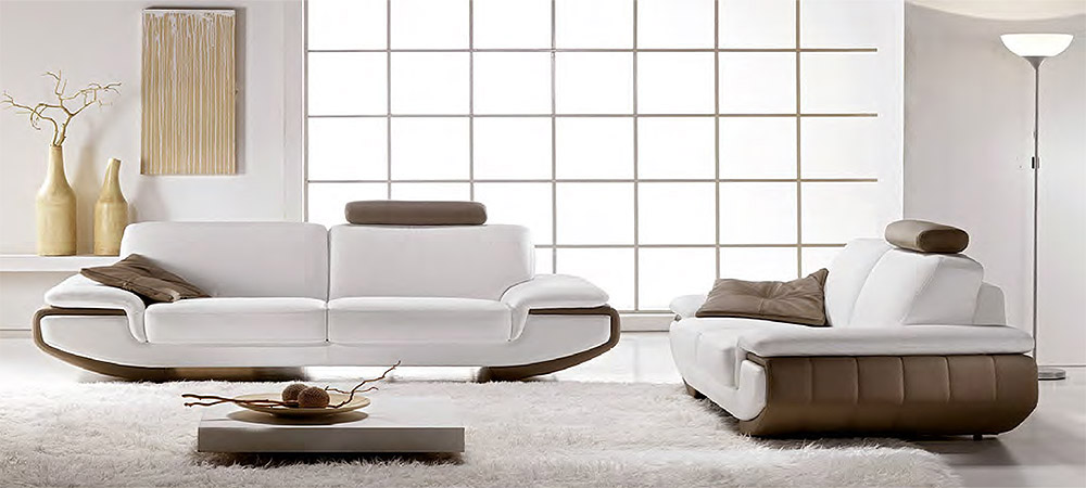 Nirvana 3 Seater and 2 Seater Leather Sofas