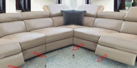 Double Corner Oscar with 4 Recliners