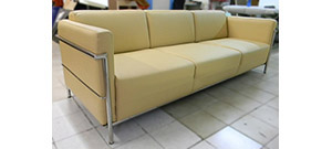 Light Yellow Leather Suite Corbusier