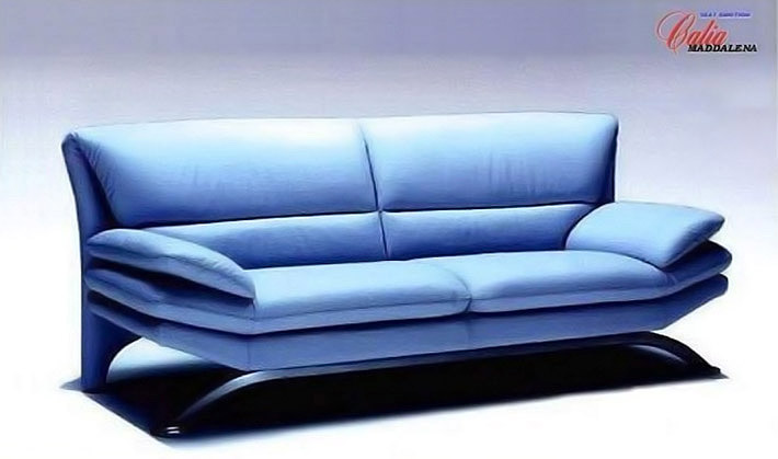 Sofas for sale italian leather discount for Blue couches for sale